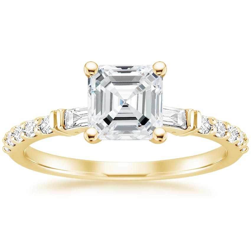 Asscher 18K Yellow Gold Regency Diamond Ring (1/4 ct. tw.)