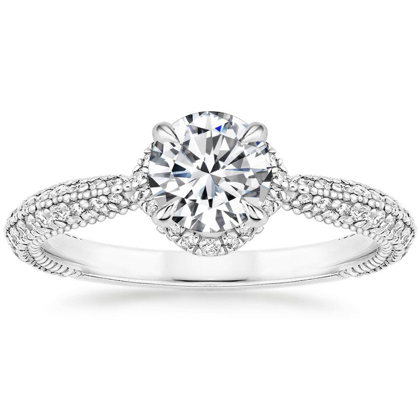 Round 18K White Gold Aster Diamond Ring (1/3 ct. tw.)