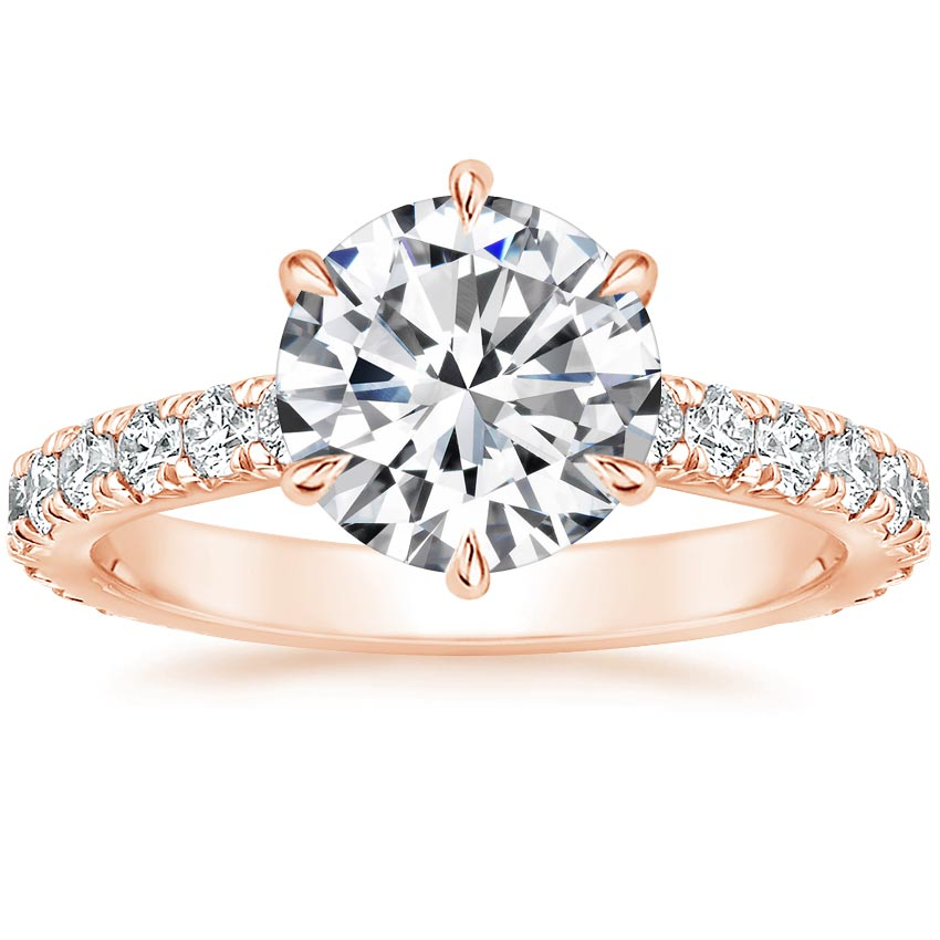 Round 14K Rose Gold Luxe Sienna Diamond Ring (1/2 ct. tw.)