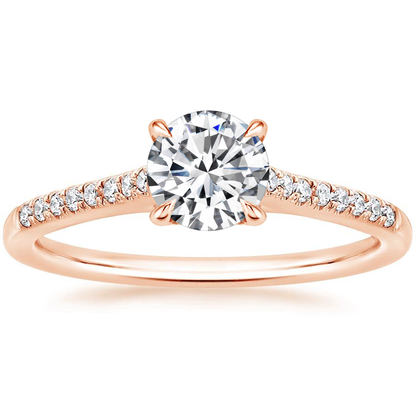 Round 14K Rose Gold Lissome Diamond Ring (1/10 ct. tw.)