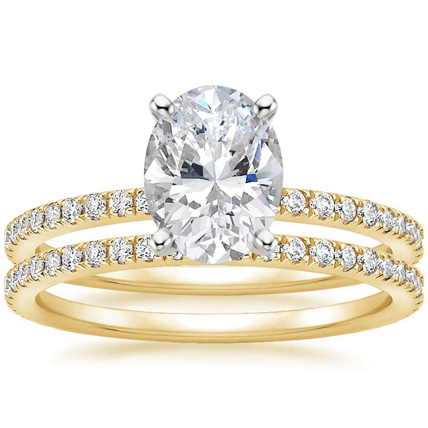 18K Yellow Gold Luxe Ballad Bridal Set (1/2 ct. tw.)