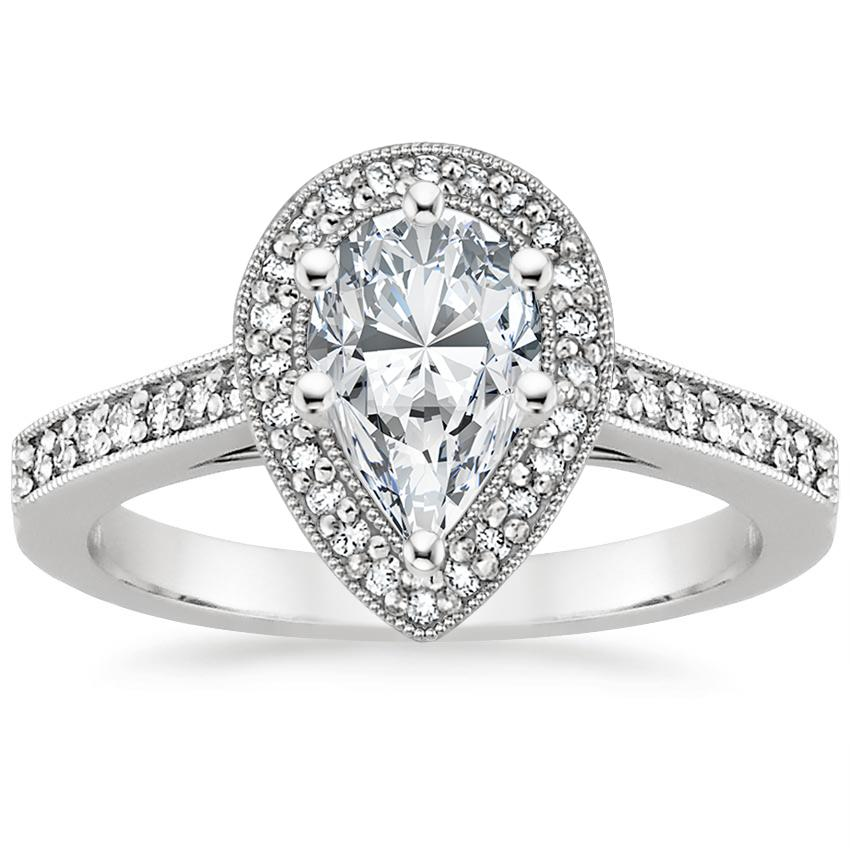 Pear Platinum Felicity Diamond Ring (1/4 ct. tw.)