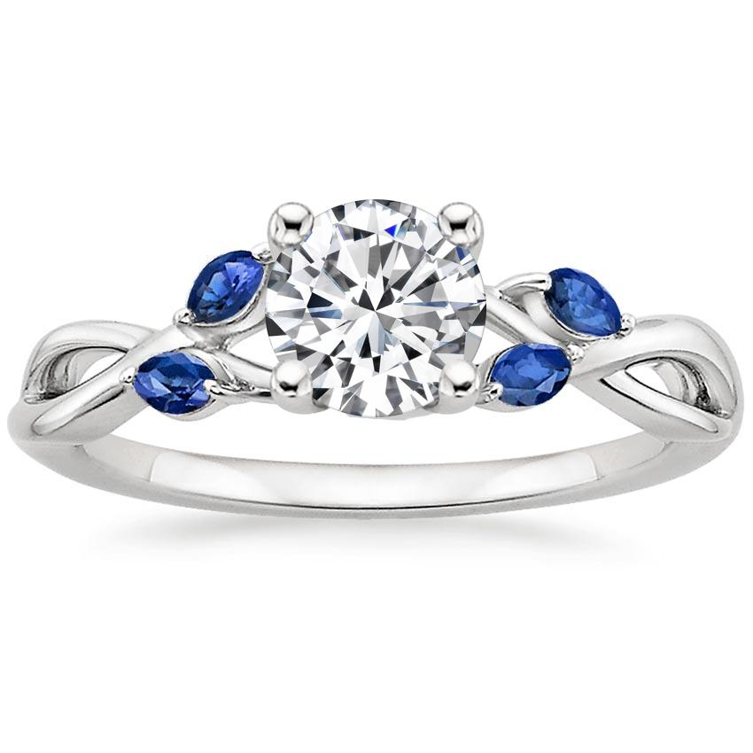 Sapphire Accent Engagement Ring