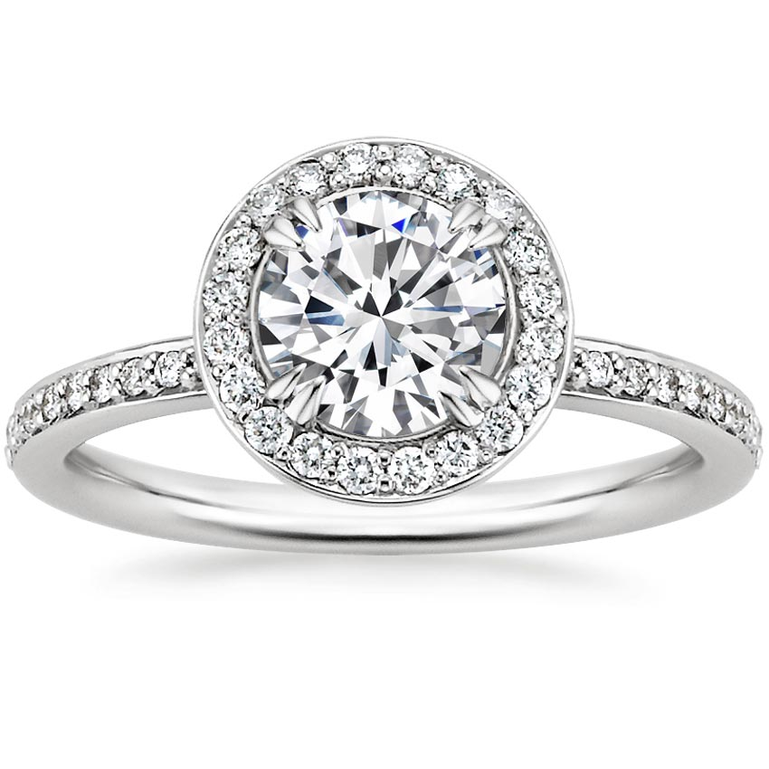 Round 18K White Gold Adore Diamond Ring