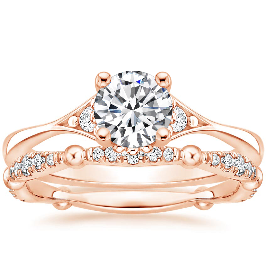 14K Rose Gold Dolce Diamond Bridal Set (1/4 ct. tw.)
