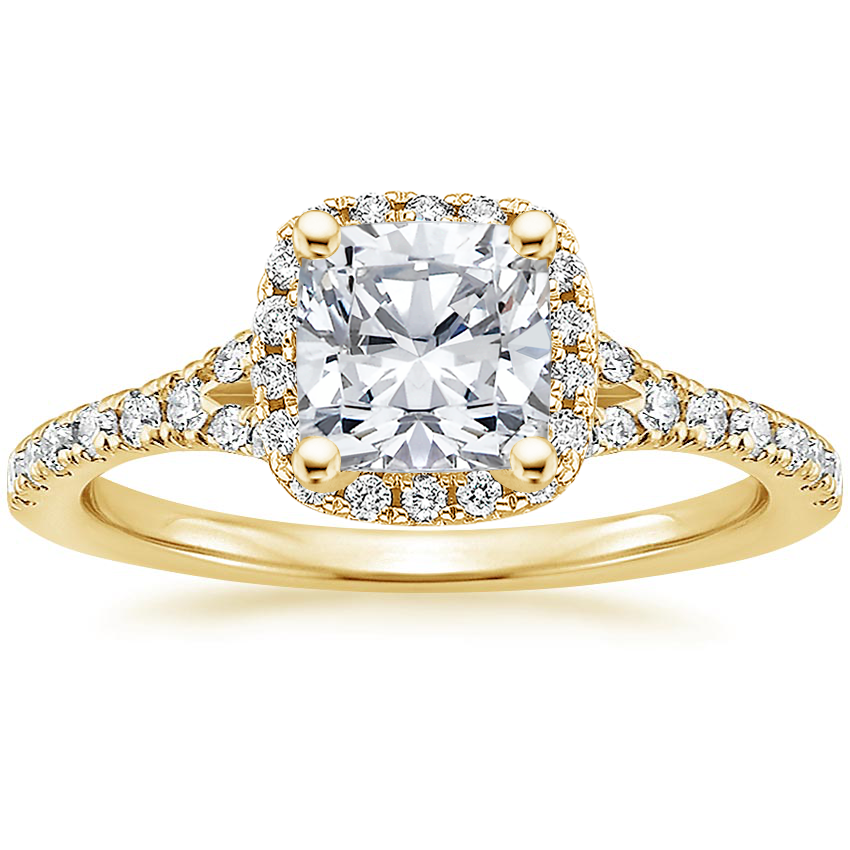 Cushion 18K Yellow Gold Joy Diamond Ring (1/3 ct. tw.)