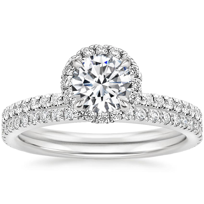 18K White Gold Waverly Diamond Bridal Set (2/3 ct. tw.)
