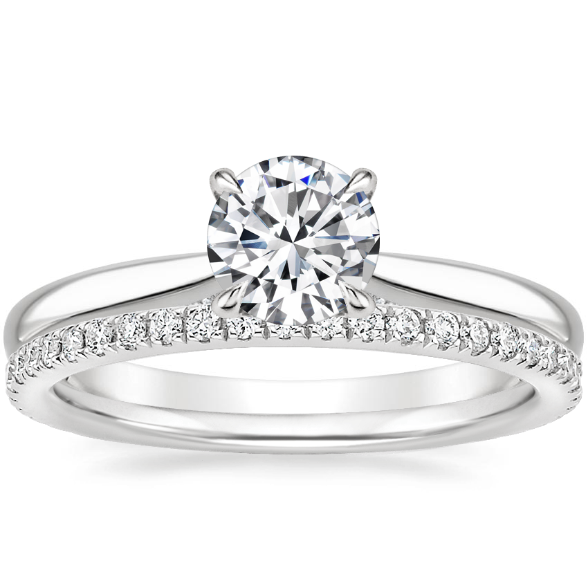 18K White Gold Dawn Diamond Ring with Luxe Ballad Diamond Ring (1/4 ct. tw.)
