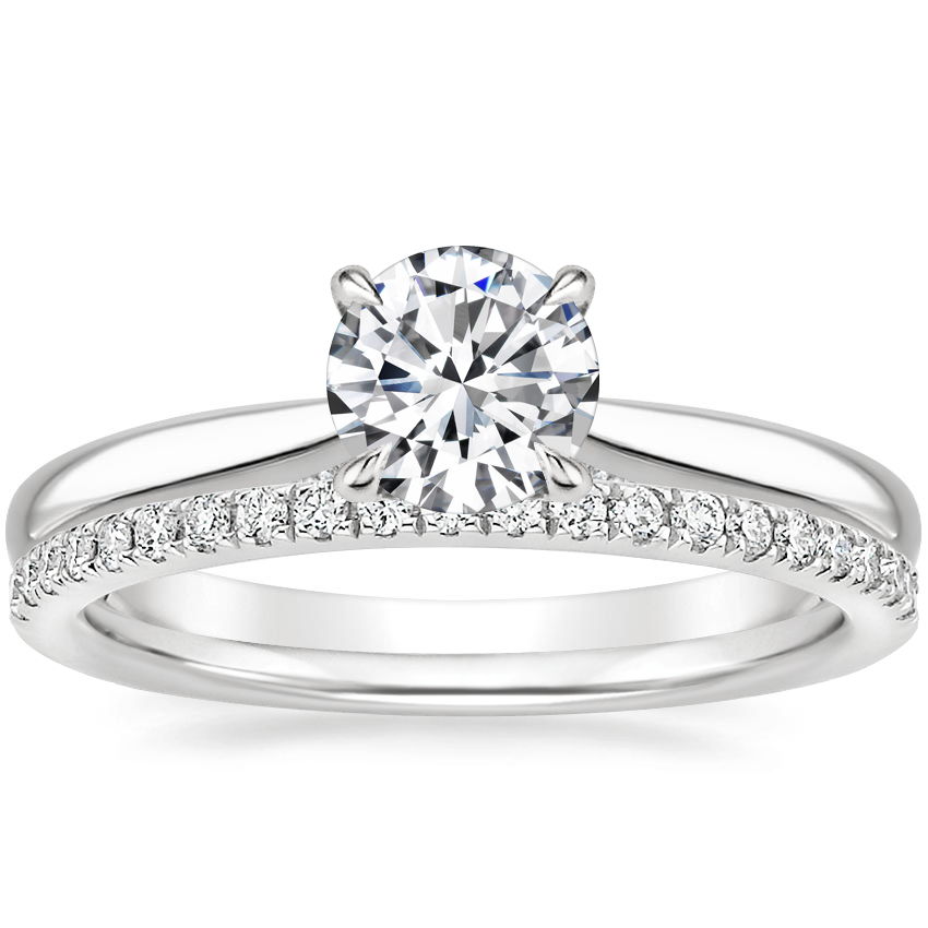 18K White Gold Dawn Diamond Ring with Ballad Diamond Ring (1/6 ct. tw.)
