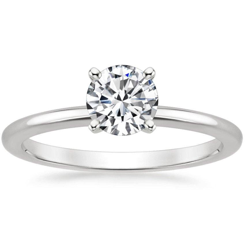 the press george top engagement solitare rings