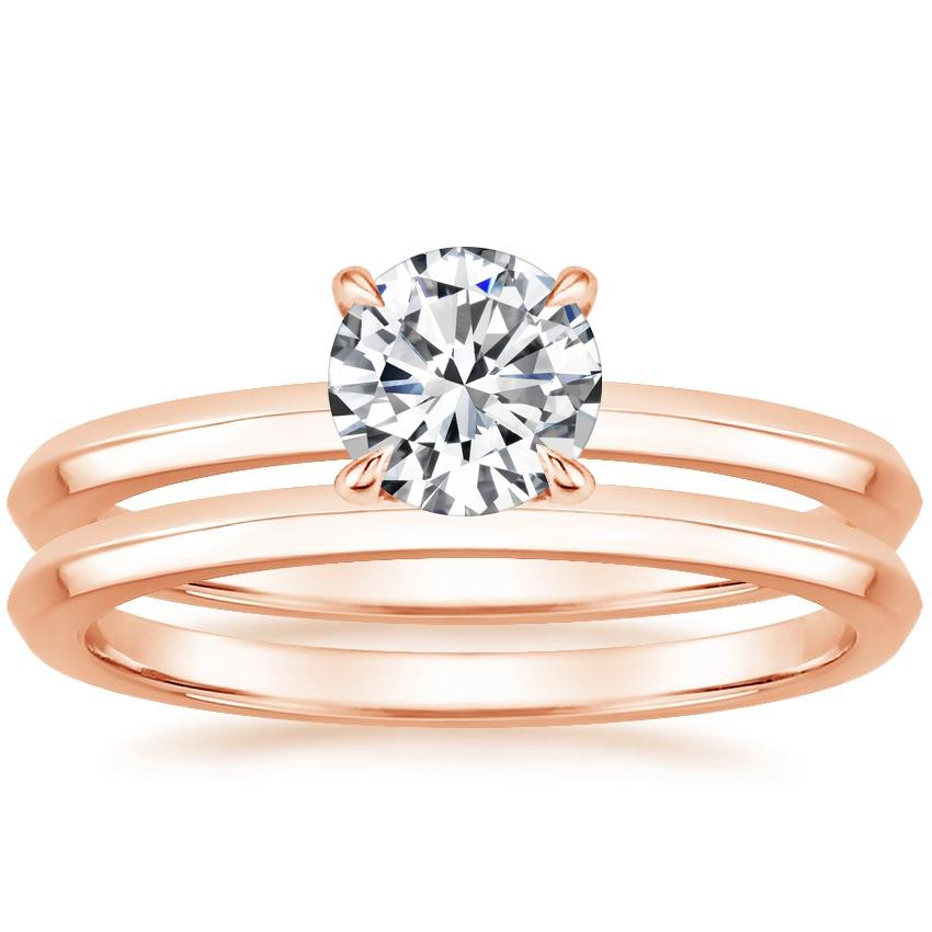 14K Rose Gold Hazel Bridal Set