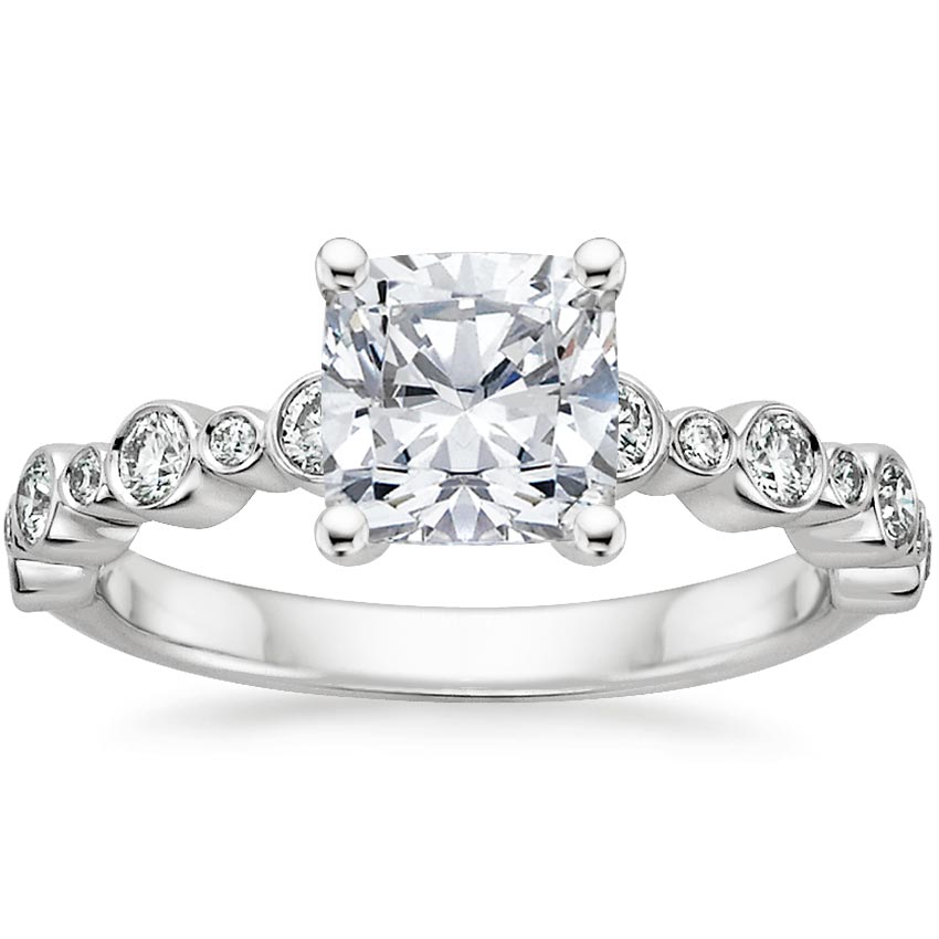 Platinum Isla Diamond Ring (1/4 ct. tw.), top view