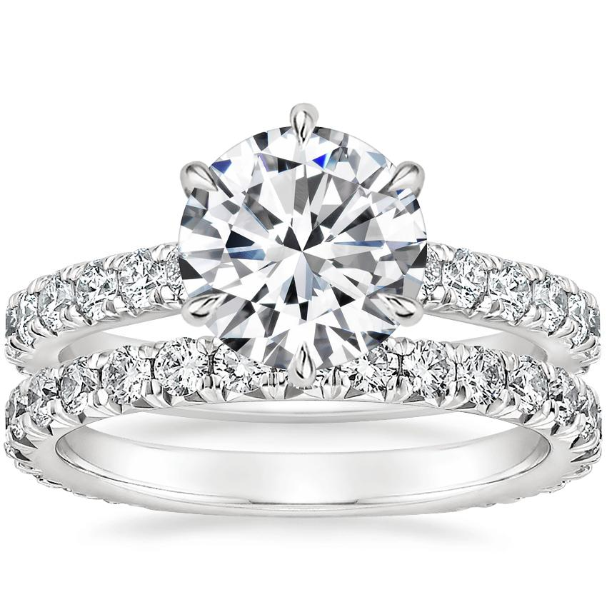 Platinum Luxe Sienna Diamond Ring (1/2 ct. tw.) with Signature Luxe Sienna Diamond Ring (5/8 ct. tw.)