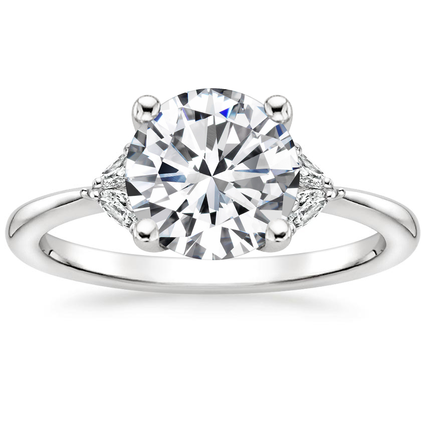 Round Platinum Faye Diamond Ring