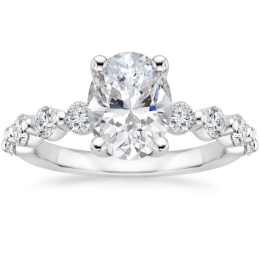 Oval Luxe Floating Diamond Ring