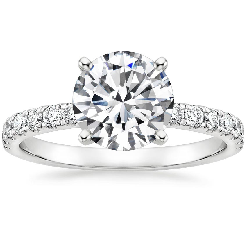 Round Platinum Constance Diamond Ring (1/3 ct. tw.)