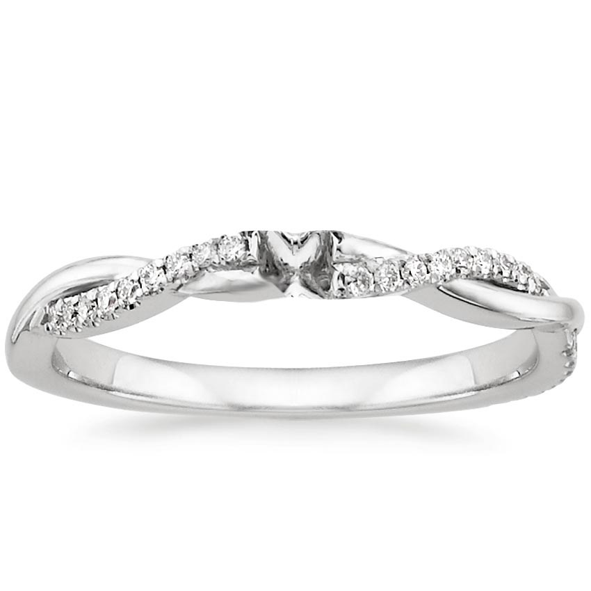 18K White Gold Petite Twisted ...