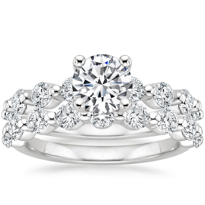 Platinum Monaco Diamond Bridal Set