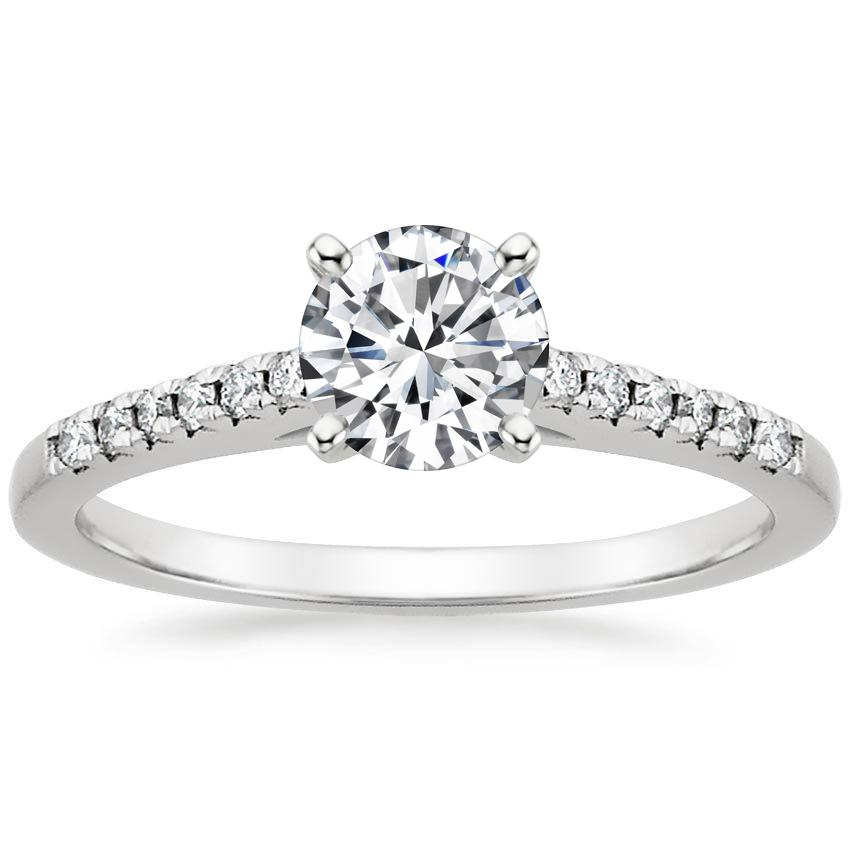 Platinum Sonora Diamond Ring, top view