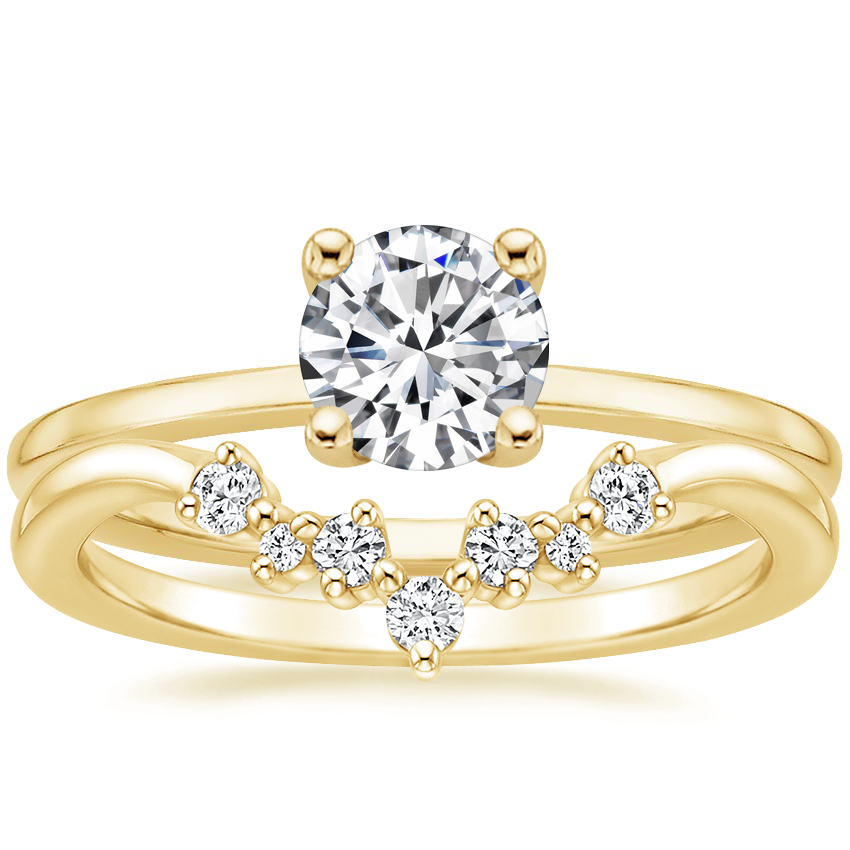 18K Yellow Gold Haven Diamond Ring with Caris Diamond Ring