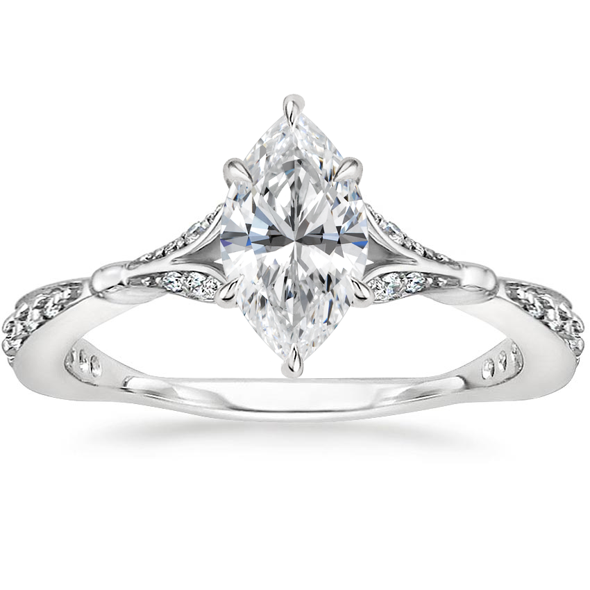 Marquise Platinum Zinnia Diamond Ring (1/3 ct. tw.)