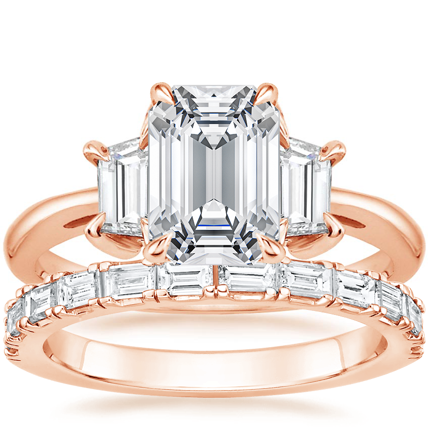 14K Rose Gold Embrace Diamond Ring with Gemma Diamond Ring (1/2 ct. tw.)