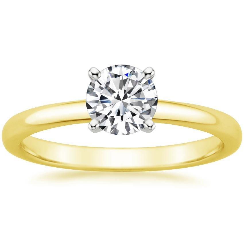 Round 18K Yellow Gold 2mm Comfort Fit Ring