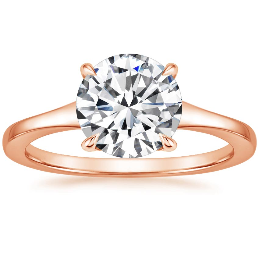 Round 14K Rose Gold Muse Ring