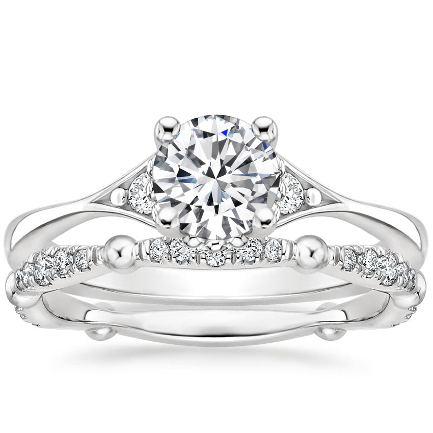 Platinum Dolce Diamond Bridal Set (1/4 ct. tw.)