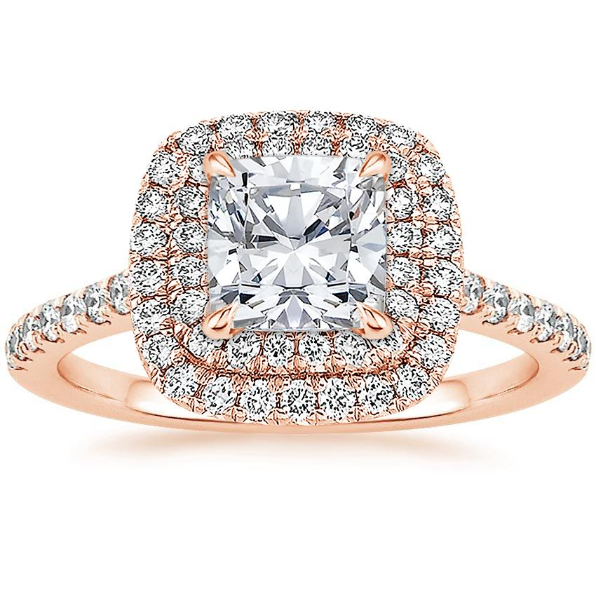Cushion 14K Rose Gold Soleil Diamond Ring (1/2 ct. tw.)