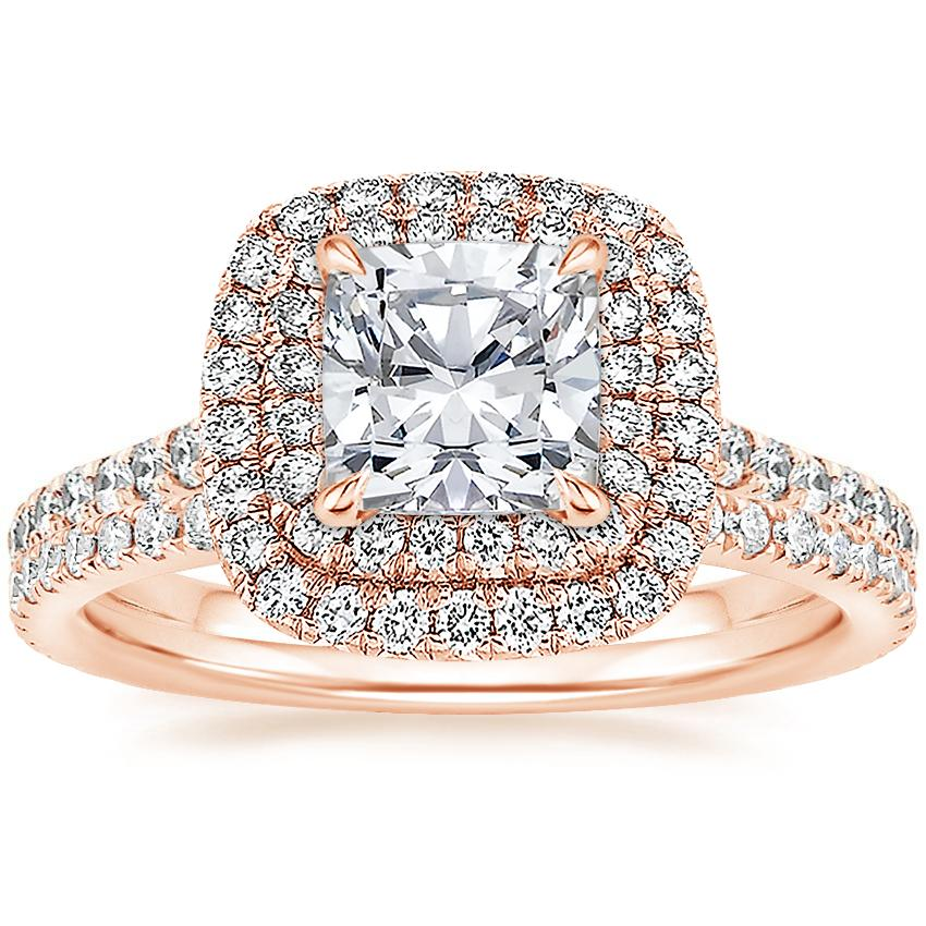 14K Rose Gold Soleil Diamond Ring with Luxe Ballad Diamond Ring (1/4 ct. tw.)