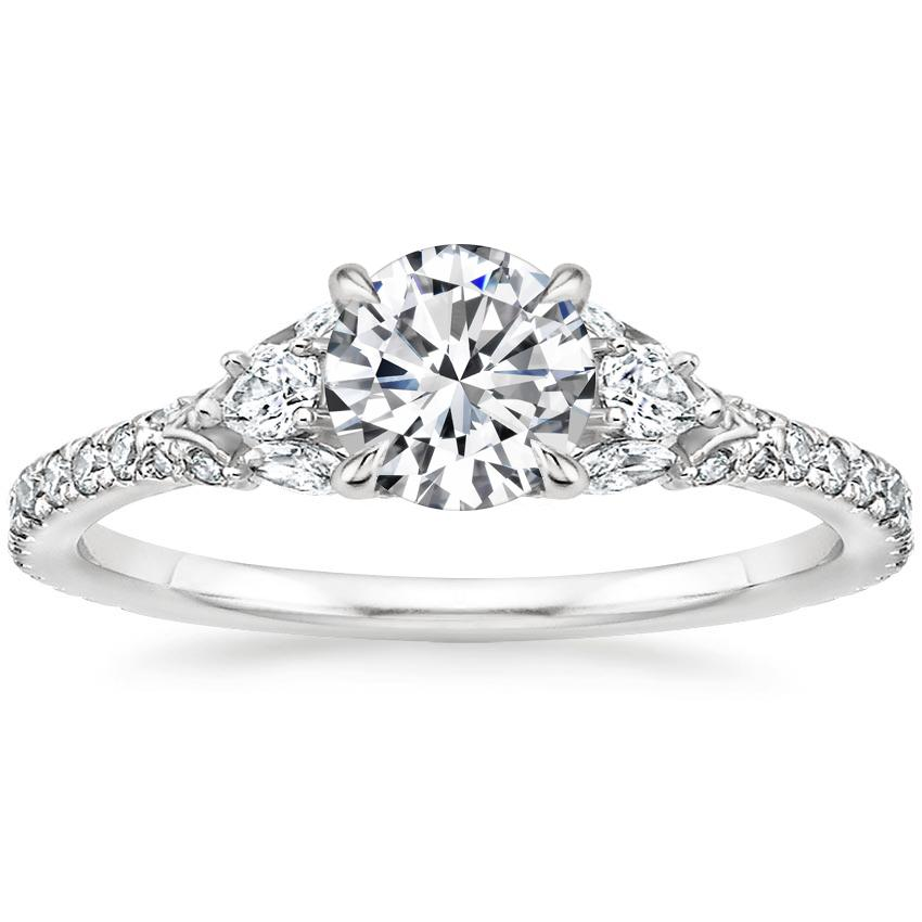 Round 18K White Gold Ava Diamond Ring (1/2 ct. tw.)