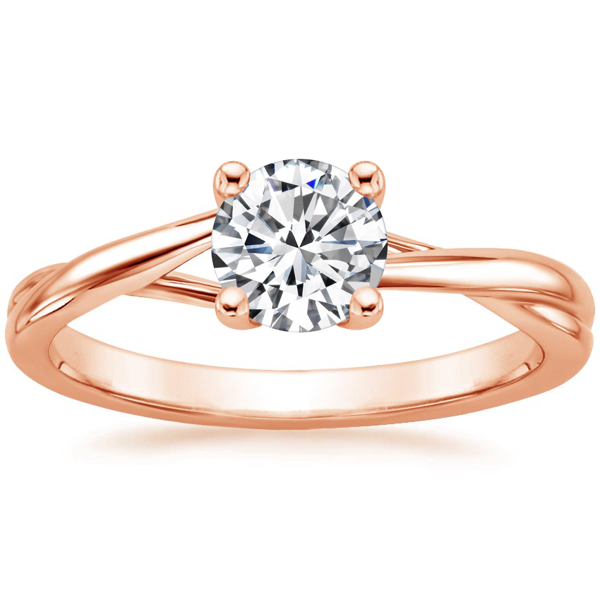 Round 14K Rose Gold Grace Ring