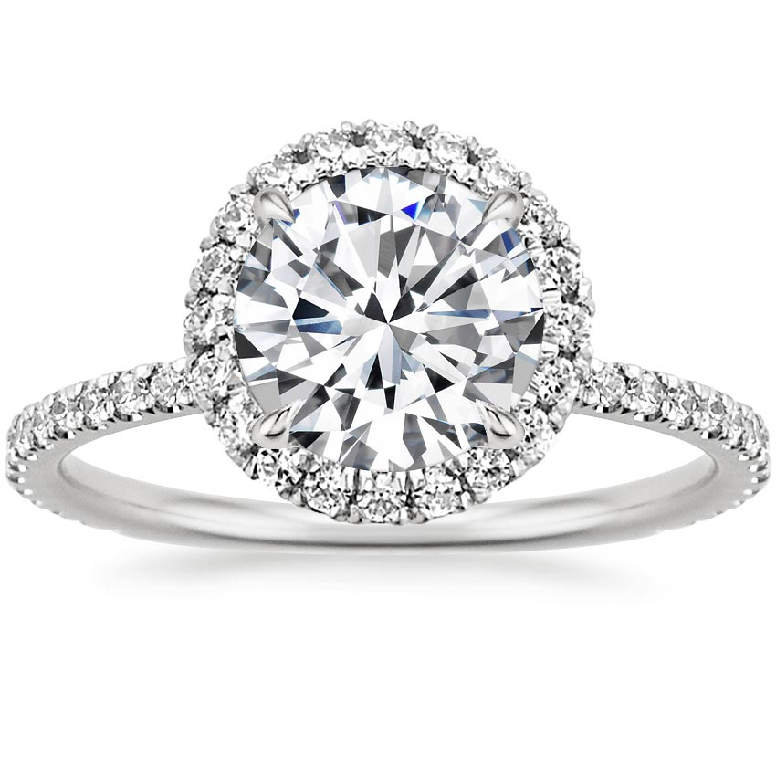 Platinum Waverly Diamond Ring (1/2 ct. tw.), top view