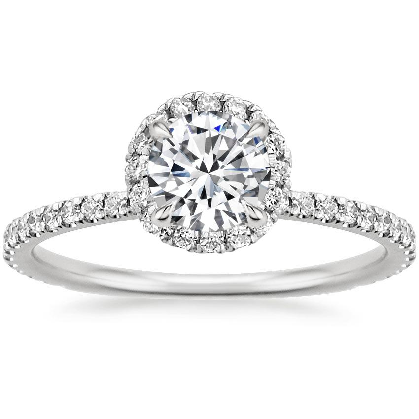 Round Platinum Waverly Diamond Ring (1/2 ct. tw.)