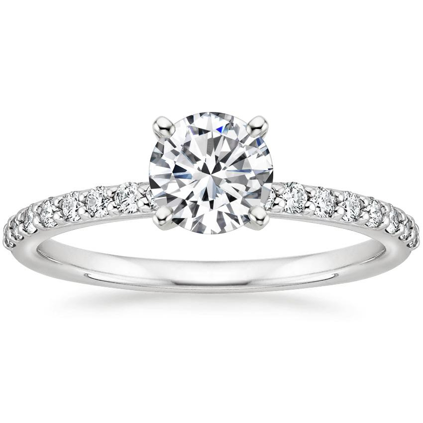 Top Twenty Engagement Rings - PETITE SHARED PRONG DIAMOND RING (1/4 CT. TW.)