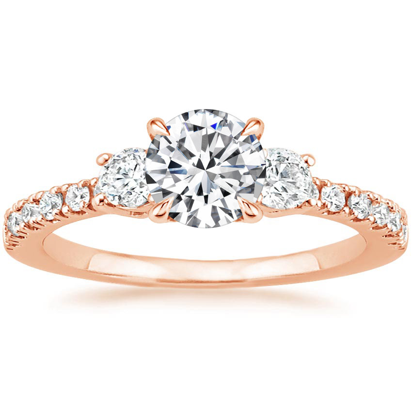Round 14K Rose Gold Radiance Diamond Ring (1/3 ct. tw.)