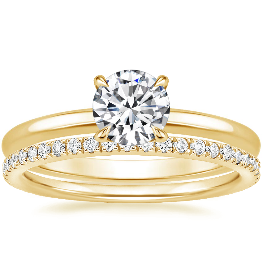 18K Yellow Gold Elodie Ring with Ballad Diamond Ring (1/4 ct. tw.)