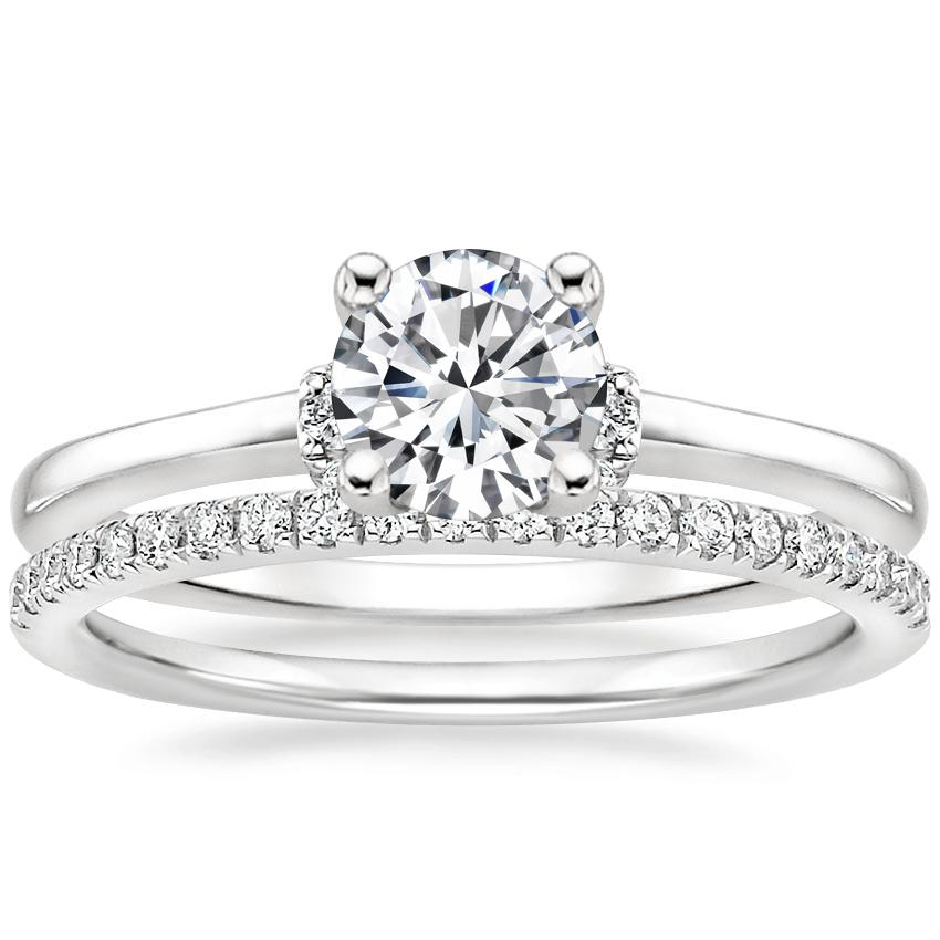 18K White Gold Leighton Diamond Ring with Ballad Diamond Ring (1/6 ct. tw.)