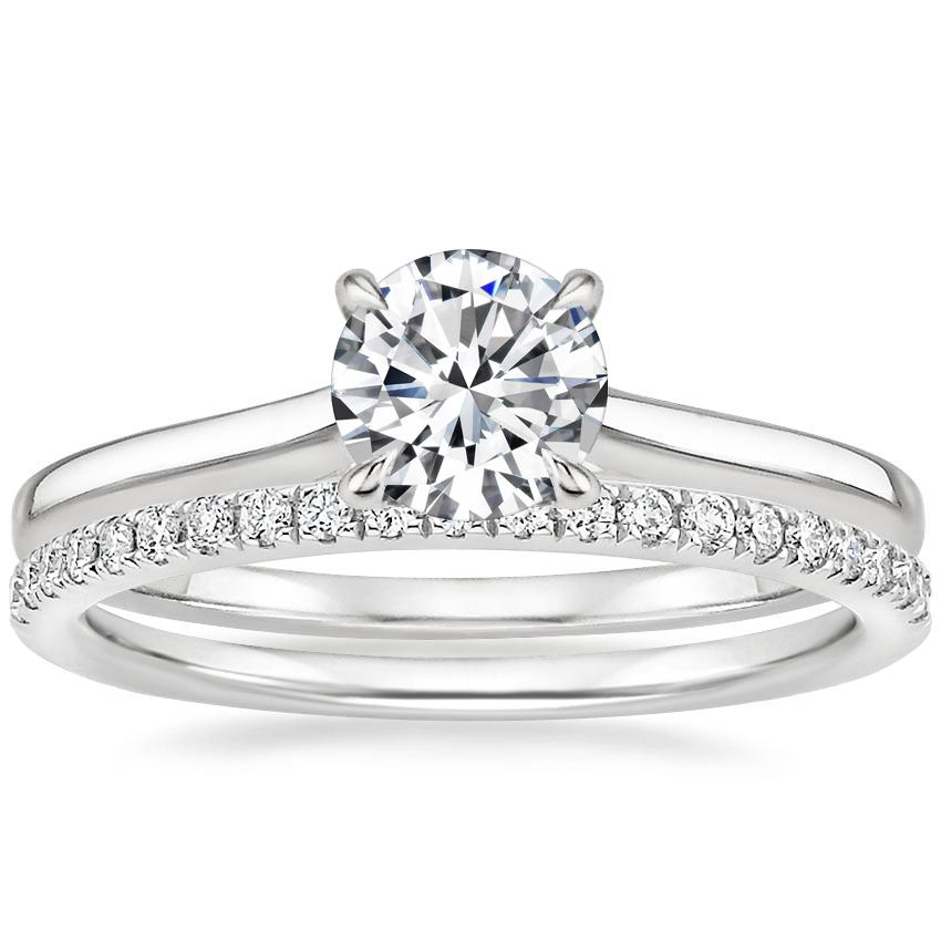 18K White Gold Provence Ring with Ballad Diamond Ring (1/6 ct. tw.)
