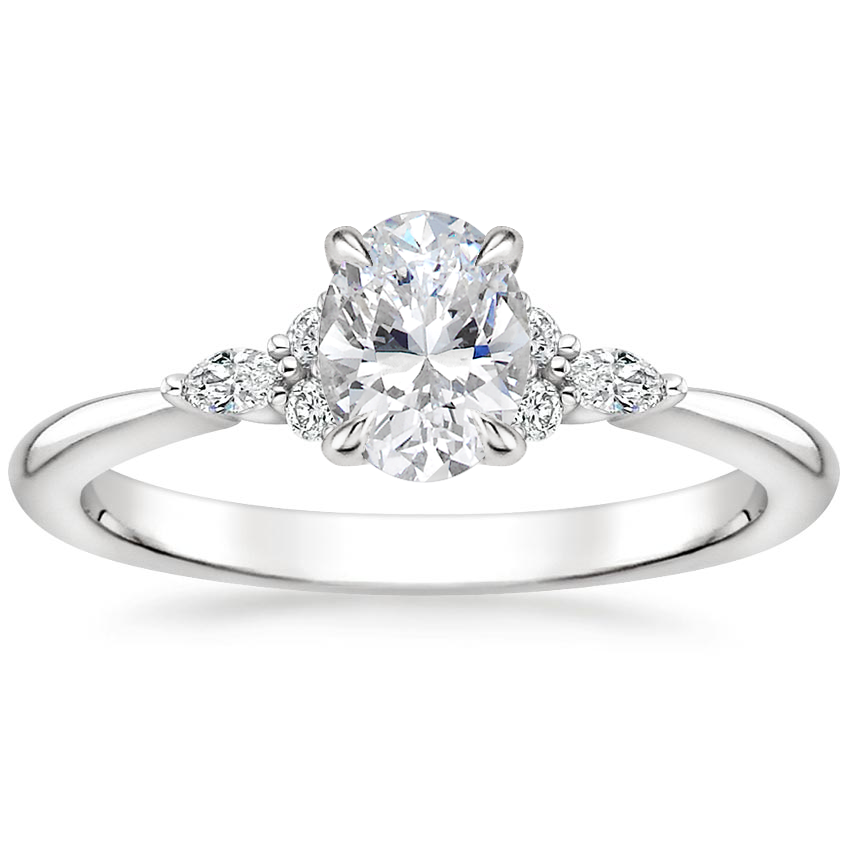 Oval Cluster Accent Diamond Ring