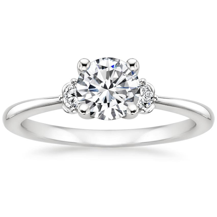 Round Platinum Blossom Diamond Ring (1/10 ct. tw.)