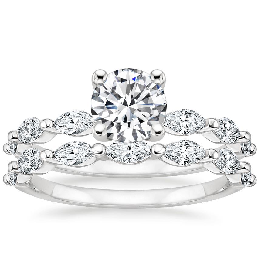 18K White Gold Joelle Diamond Bridal Set (3/4 ct. tw.)