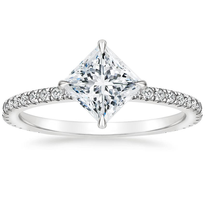 Princess Compass Point Engagement Ring