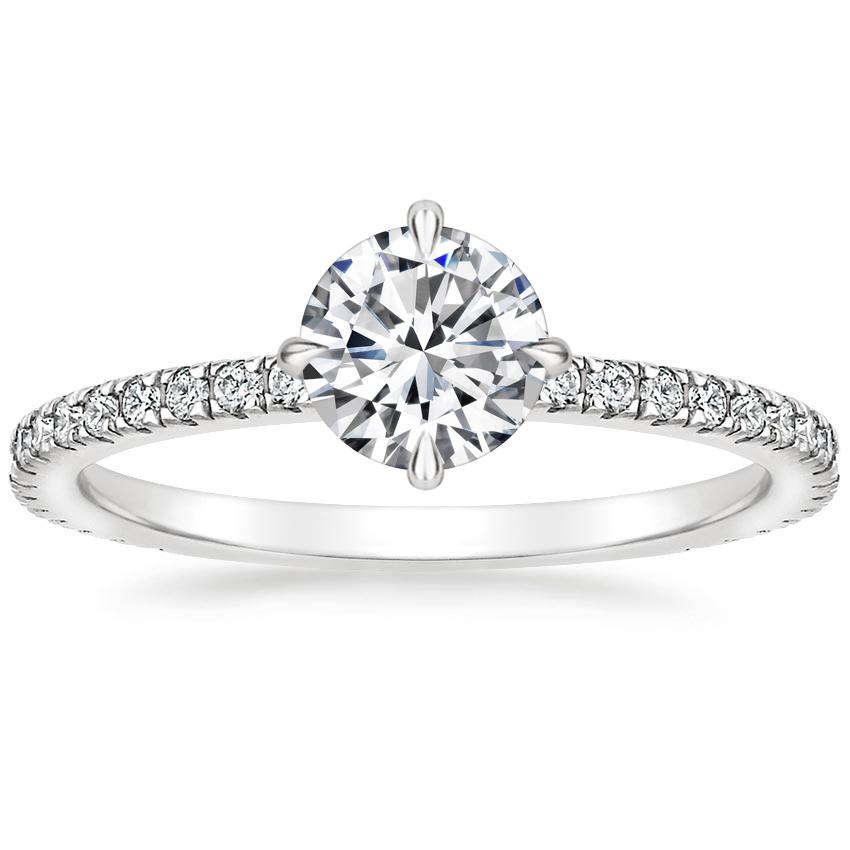 Round 18K White Gold Polaris Diamond Ring (1/4 ct. tw.)