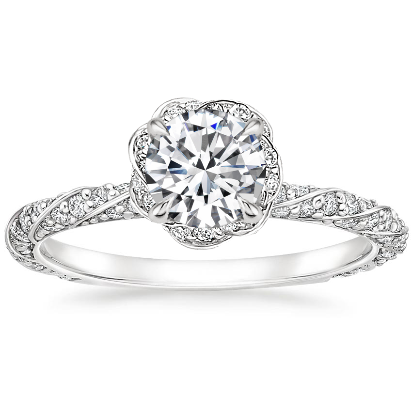 Round Platinum Nova Diamond Ring (1/2 ct. tw.)