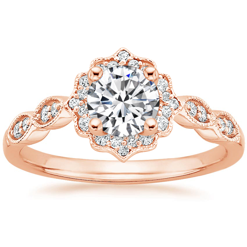 Round Vintage Inspired Engagement Ring