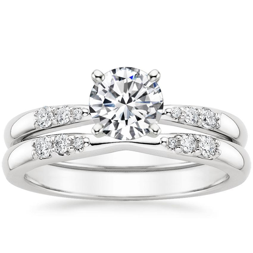 18K White Gold Lark Diamond Bridal Set