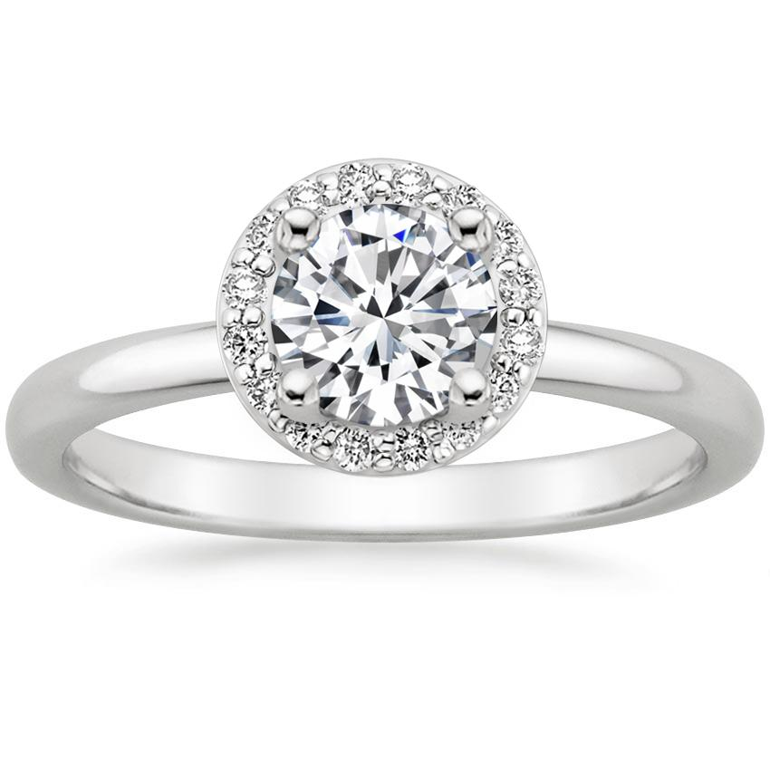 Round Platinum Halo Diamond Ring (1/6 ct. tw.)