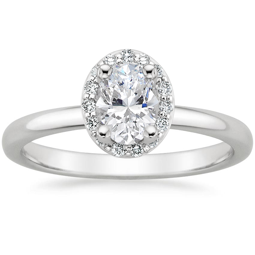 Oval Fancy Halo Diamond Ring